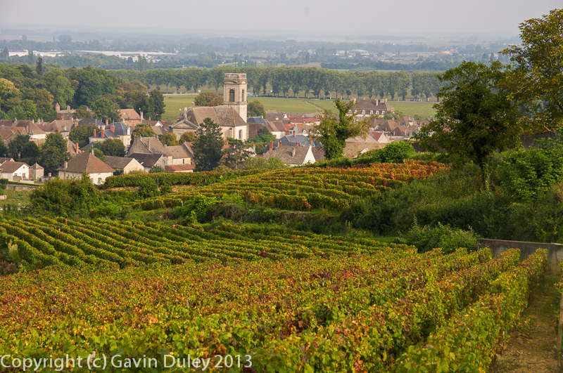 Pommard from the vineyards, 27th September 2013